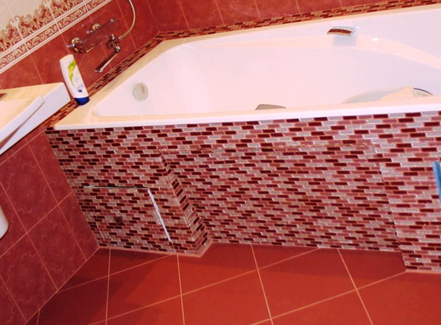 Плитка для ванны своими руками 46
