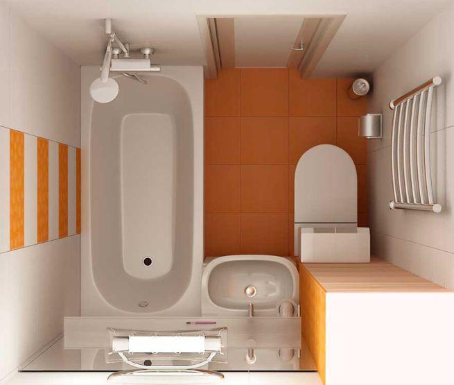 Дизайн ванной комнаты 3м квм